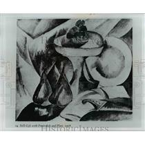 1908 Press Photo Still-Life with Fruit-dish and Plate, 1908 by Georges Braque