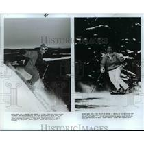1987 Press Photo Skiing in Mount Snow, Vermont - cvb36969
