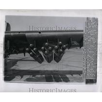 1957 Press Photo Zuni missiles Economy Rocket Weapons - RRY66293