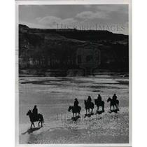 1968 Press Photo Horseback riding in Theodore Roosevelt National Memorial Park