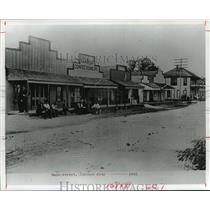 1907 Press Photo Main Street, Johnson City, Texas - hcx07067