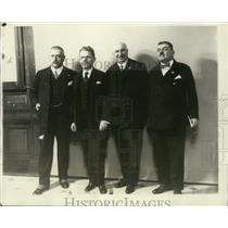 1928 Press Photo Hungarian Delegation to participate in unveiling of Statue