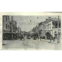 1931 Press Photo Napier, New Zealand street scene before the earthquake