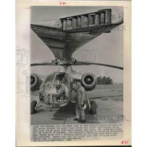 "1965 Press Photo Army's XV9A ""Hot Cycle"" helicopter in Los Angeles, CA"