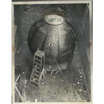 1966 Press Photo Gondola of balloon to be used by Soviets to set flight record