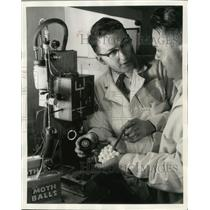 "1957 Press Photo Mothballs Way to Eliminate ""Bugs"" in Aircraft Instruments"