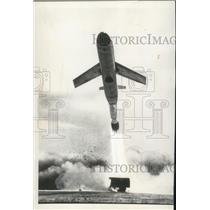 1958 Press Photo Latest Version of Martin Matador Blasting Away From Launch Pad