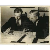 1935 Press Photo Gilbert E Stoll,James C Prosser plan a non stop flight