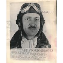 1948 Press Photo S.J. Supina, pilot that landed plane at LaGuardia Field
