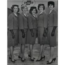 1965 Press Photo Spokane native daughters now with United Air Lines. - spb09858
