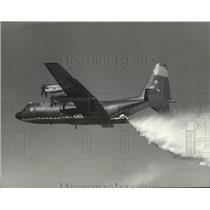 1974 Press Photo Forest Service water plane - spb10206