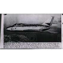 1956 Press Photo View of the Daasault Mystere IV French Interceptor jet
