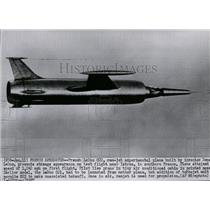 1957 Press Photo View of the French experimental plane Leduc 002 - spw10298