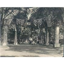 1924 Press Photo Evanston IL Greenwood Blvd Decorated for Charles Dawes