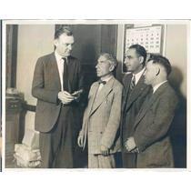 1926 Press Photo Chicago IL Sgt Knowles, William Davidson,Joseph Riskin