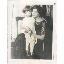 1923 Press Photo Chicago IL Mrs Nicholas Lenz & Leona - ner41105
