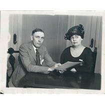 1923 Press Photo Chicago IL HJ Budd, Mrs Gussie Hopkins, Theosophists