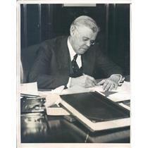 1933 Press Photo Detroit MI James McEvoy President National Bank - ner59947