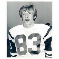 1966 Press Photo AFL/NFL New York Jets Wide Receiver George Sauer - snb9137