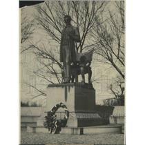 1918 Press Photo The Saint Gaudens Statue of Abraham Lincoln - spa86336