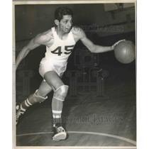 1952 Press Photo A Lanier High School basketball player in action - sas01860