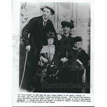 """1883 Press Photo The """"Four Cohans"""" in 1883 - nop15828"""