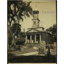 1934 Press Photo The old Stone Church in Quincy, Massachusetts - hcx10296
