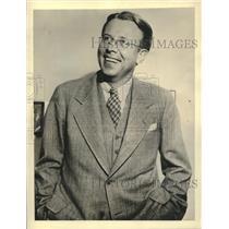 1939 Press Photo Dr Ernest Orlando Lawrence Physics prof at University of Calif