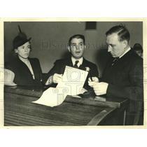 1939 Press Photo Mikhail Gorin & Hafiz Salih Convicted on 3 Counts of Espionage