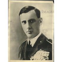 1929 Press Photo Commander Umberto Maddalena for endurance flight record