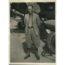 1930 Press Photo Capt.Eddie Brooks of Colorado voted the Safest Flyer in America