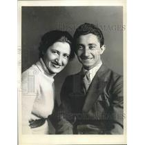 1939 Press Photo Sportsman and Ocean Flier Alexander Loeb and wife Elsa