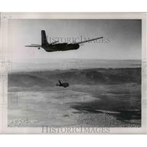 1953 Press Photo Ryan Q-2 Pilotless Drone launched from B-26 plane - nem48553