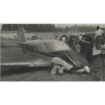 1967 Press Photo Wreckage of Plane Just North of Birmingham, Alabama Airport
