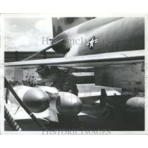 1967 Press Photo U.S. Military Plane in Vietnam - abna10649