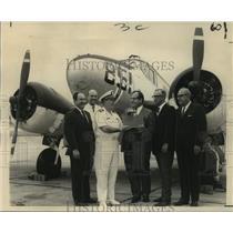 1968 Press Photo Navy Donates C-45 Beechcraft Airplane to Delgado College