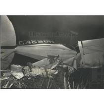 1971 Press Photo Scene of Plane Crash After Hitting Power Lines, Alabama