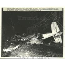 1986 Press Photo Fatal Plane Crash in Brownsville, Alabama - abna10214