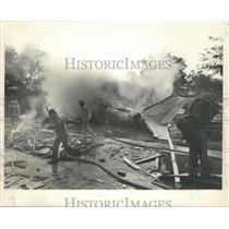 Press Photo L'Express Flight 508 Wreckage Still Burning at Crash Site, Alabama