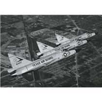 Press Photo Texas Air Guard aircraft shown in flight - sba21750