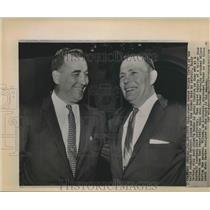 1958 Press Photo Coach George Wilson of Detroit Lions and Boss Buddy Parker