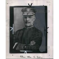 1918 Press Photo Admiral William Sowden Sims in 1918 as commander of US navy