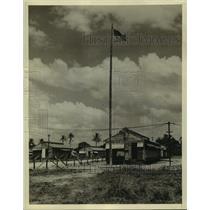 1942 Press Photo Dutch Guiana, United States Army barracks in Paramaribo