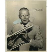 1965 Press Photo Lewis W. Dymond, President of Frontier Airlines - noa98264