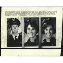 1969 Press Photo Crew of hijacked Delta flight 518 that was in route to Augusta