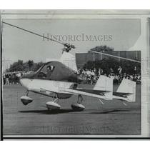 1968 Press Photo Flying Flivver, a two seat auto-gyro which needs only 20 feet