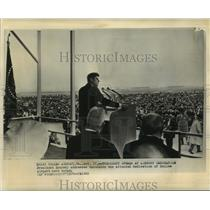 1962 Press Photo President Kennedy Speaks at Dedication of Dulles Airport