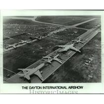 1988 Press Photo Aerial view of the The Dayton International Airshow