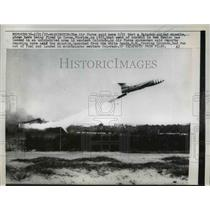 1957 Press Photo Matador Guided Missile launched from the White Sand N.M