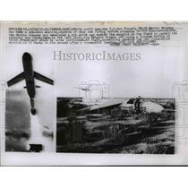 1957 Press Photo U.S Air Force TM-76 Martin Matador blast off using a booster